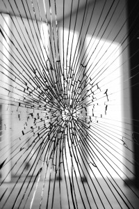 broken interior glass door