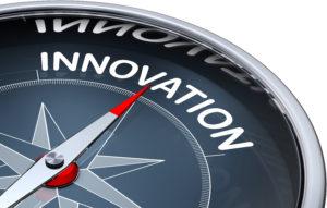word 'innovation' on compass